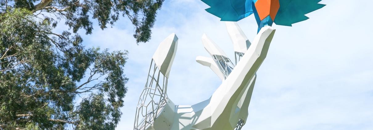 sculpture, galvanized steel, damian vick